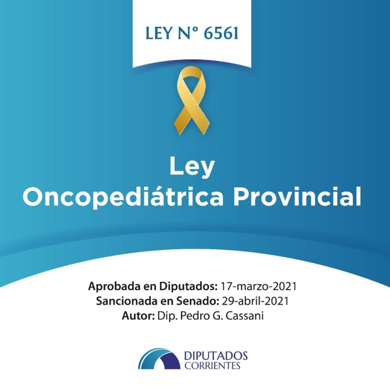 La Ley Oncopediátrica Provincial cumplimentó sus pasos parlamentarios