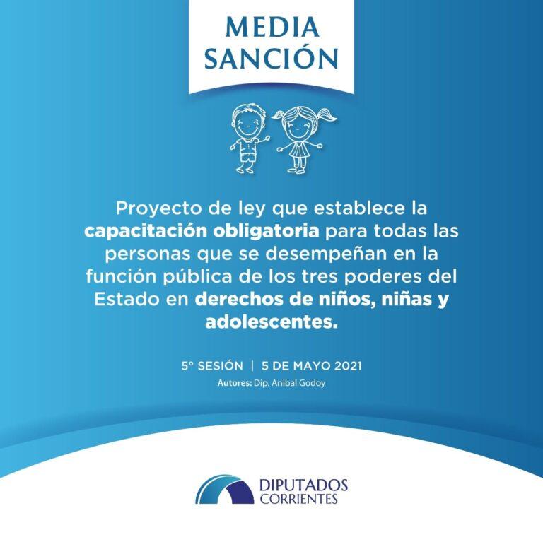 """Media Sanción: Capacitación Obligatoria en la temática """"Derechos de Niños y Adolescentes"""""""