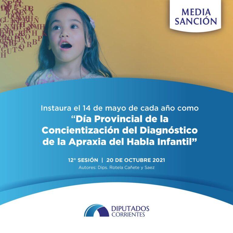 Media Sanción para el Día de Concientización de la Apraxia Infantil