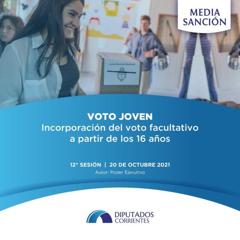 """Media Sanción: Por unanimidad se aprobó el proyecto de """"Voto Joven"""" (Facultativo)"""